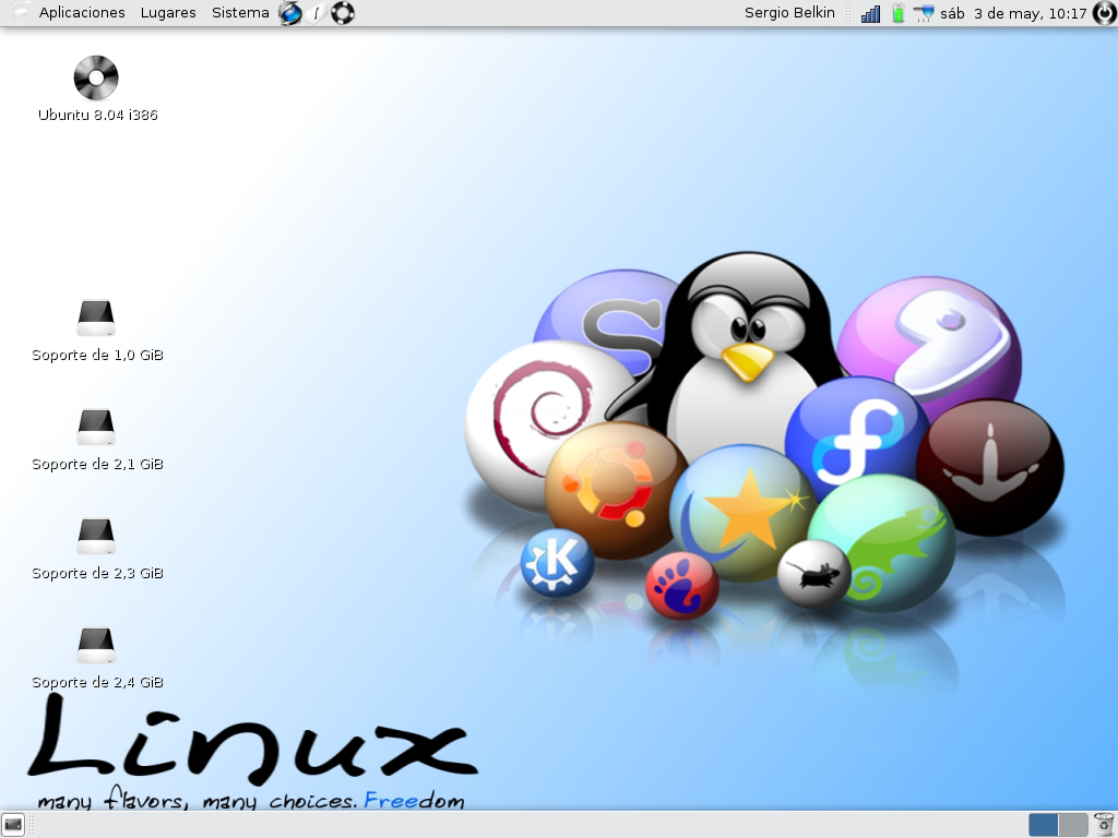 En la notebook, he instalado Ubuntu Hardy Heron, que me funciona mejor que