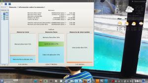 KInfocenter mostrando el uso de la memoria en Linux